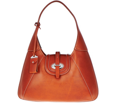 """As Is"" Dooney & Bourke Florentine Toscana Front Stitch Hobo Bag"