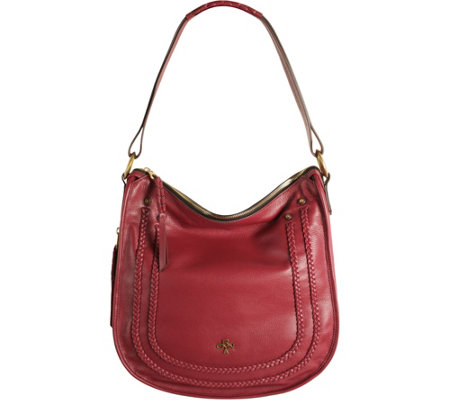 """As Is"" orYANY Pebble Leather Hobo w/ Braiding Detail - Madelyn"