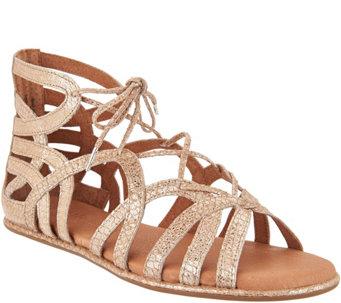 2dbb6151c78a Gentle Souls Leather Lace-up Sandals - Break My Heart - A291806
