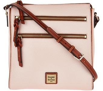 Dooney Bourke Pebble Leather Triple Zip Crossbody Handbag A293006