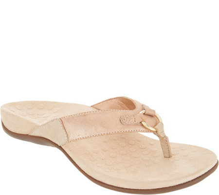 Vionic Thong Sandals with Ring Detail - Elena