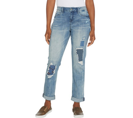 Laurie Felt Classic Denim Underpatch Weekender Jeans
