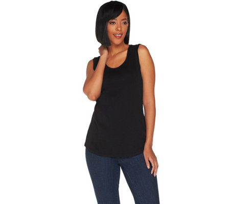 """As Is"" Isaac Mizrahi Live! Essentials Pima Cotton Tank Top"