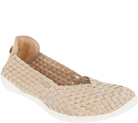 As Is Bernie Mev Basket Weave Slip On Shoes Catwalk