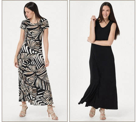 Attitudes by Renee Como Jersey Set of 2 Maxi Dresses