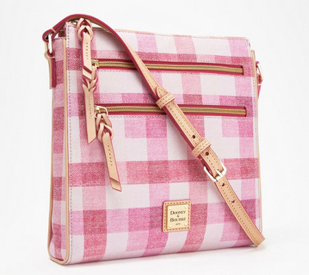 Dooney & Bourke Coated Cotton Large Triple Zip Crossbody