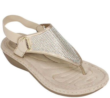 Cliffs by White Mountain Thong Sandals - Chrystal