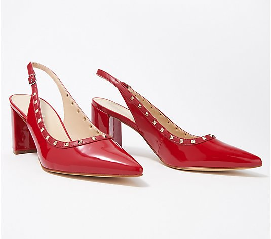 Marc Fisher Sling-Back Pumps with Studs - Carmon