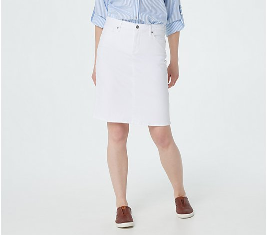 NYDJ 5-Pocket Skirt - Optic White