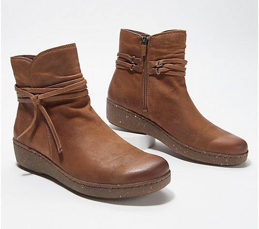 Dansko Burnished Suede Leather Ankle Boots- Evelyn