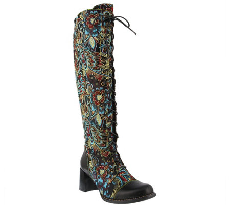 L'Artiste by Spring Step Leather and Textile Boots - Rarity