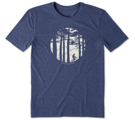 Life Is Good Men S Mountain Bike Woods Cool T Shirt