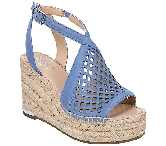 Franco Sarto Espadrille Wedge Sandals - Celestial