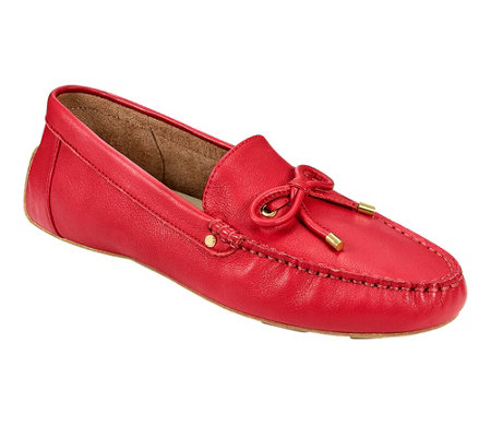 Aerosoles Leather Moccasin Loafers - Brookhaven