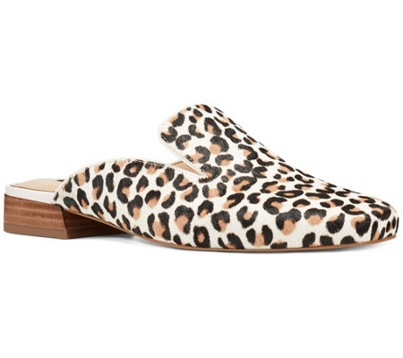 Nine West Leopard Square-Toe Mules - Smitten