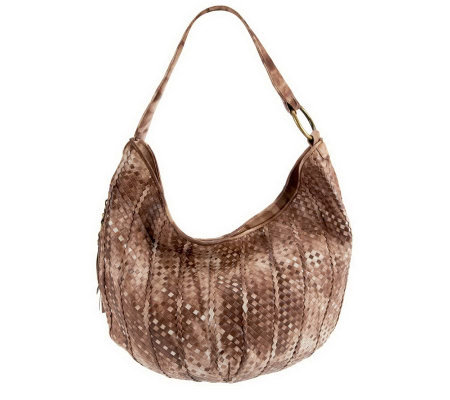 Hobo Woven Leather Entwine Hobo with Gradient Color