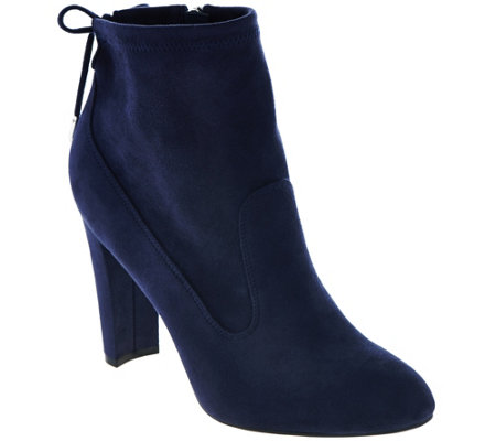 """As Is"" Marc Fisher Faux- Suede Ankle Boots w/ Tie Back - Justice"