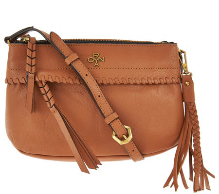 """As Is"" orYANY Pebble Leather Crossbody - Marcia"