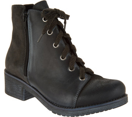 best cheap online Naot Leather and Suede Lace-up Ankle Boots - Groovy for sale very cheap sale original for sale under $60 with paypal cheap online YLq5UEX