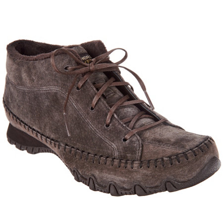 Skechers Suede Bikers Lace-up Boots - Totem Pole