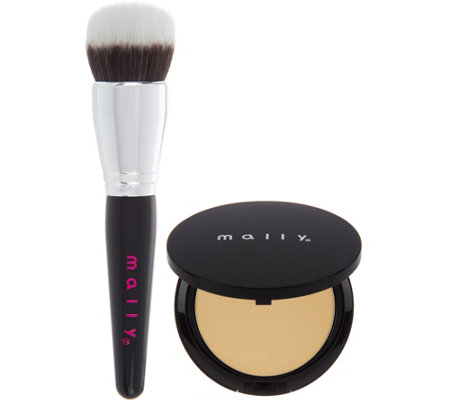 Mally Smooth Skin Perfecting Powder Foundation w/ Brush