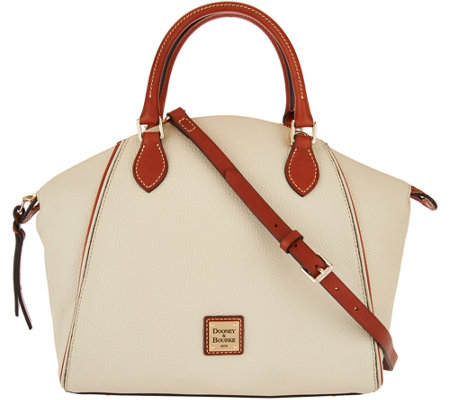 """As Is"" Dooney & Bourke Pebble Leather Satchel Handbag - Sydney"