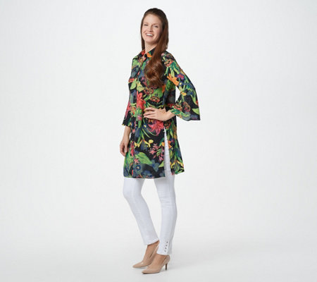 Linea by Louis Dell'Olio Tiger Lily Print Duster
