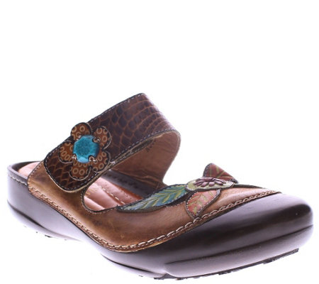 Spring Step L'Artiste Leather Clogs - Gladiolus
