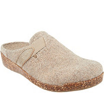 Earth Origins Felt Slip-On Clogs with Strap Detail - Jenna - A342507