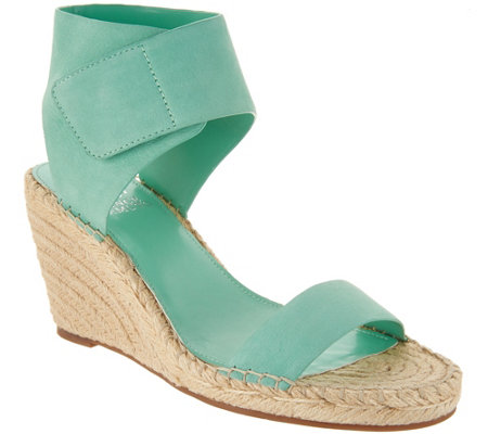 """As Is"" Vince Camuto Leather Ankle Strap Espadrilles - Levista"