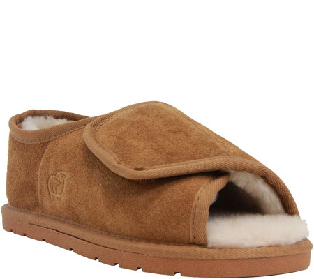 Lamo Open-toe Wrap Slippers