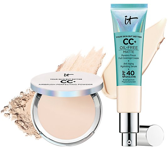 IT Cosmetics Oil-Free Matte CC Cream SPF 40 & CC Powder Complexion Duo