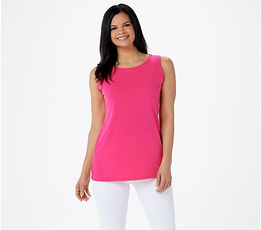 """As Is""_Susan Graver Modern Essentials Liquid Knit Tunic Tank"