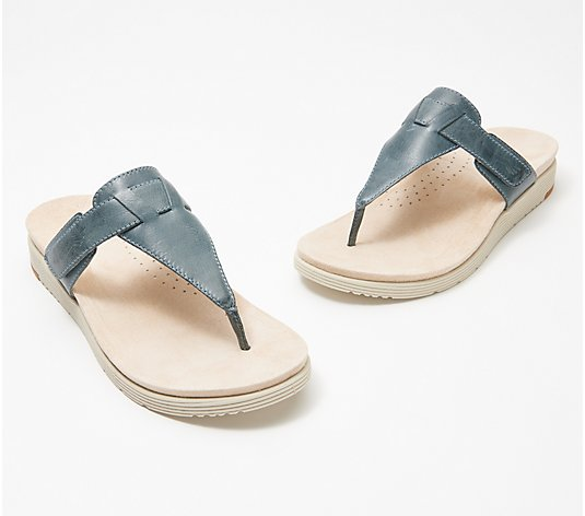 Dansko Burnished Calf Leather Thong Sandals - Cece