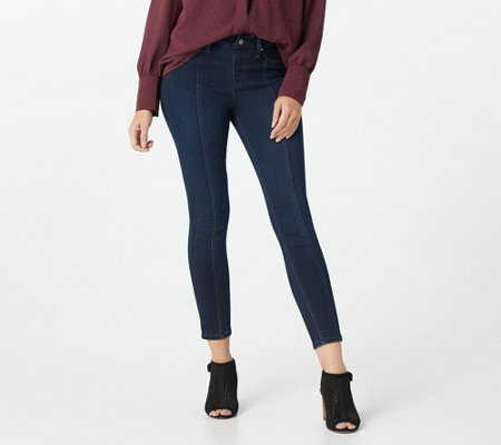 """As Is"" Laurie Felt Regular Silky Denim Ankle Skinny Pull-On Jeans"