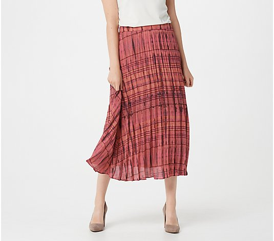 """As Is"" Lisa Rinna Collection Printed Midi Skirt"