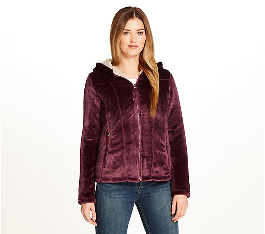 Weatherproof Cozy Sherpa-Lined Hooded Fleece Jacket