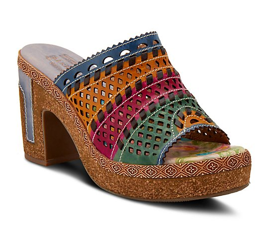 L'Artiste By Spring Step Leather Platform Sandals - Guayas