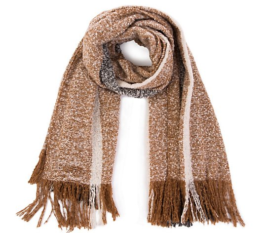 Glitzhome Hello Mama Brush Finish Loop Yarn Scarf with Fringe