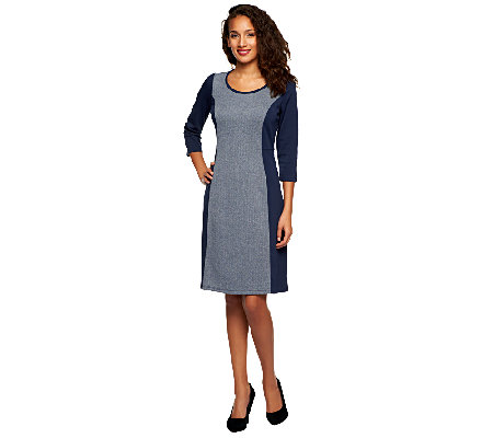 Liz Claiborne New York Petite Herringbone Knit Dress