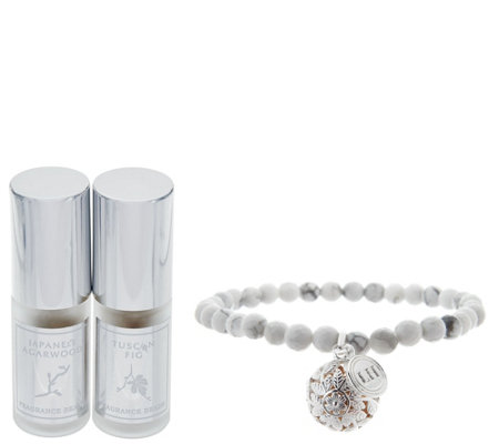 Lisa Hoffman Gemstone and Sterling Silver Fragrance Bracelet