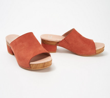 ceff236b61eb Dansko Leather or Nubuck Clogs - Maci - Page 1 — QVC.com
