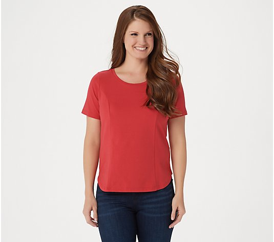Bob Mackie Essentials Scoopneck Tee