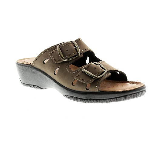 Flexus by Spring Step Decca Leather Slide Sandals