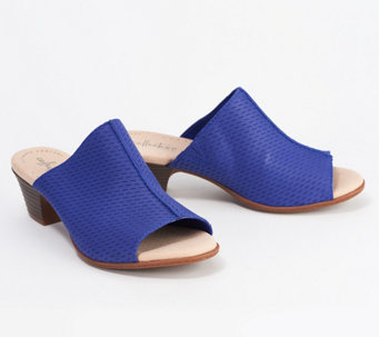 9648c1619b5a5 Clarks Collection Leather Heeled Slide Sandals - Valarie Caddy - A350408