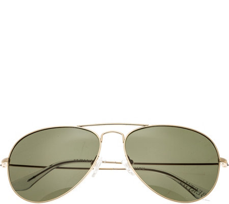 Bertha Brooke Goldtone Sunglasses w/ PolarizedLenses