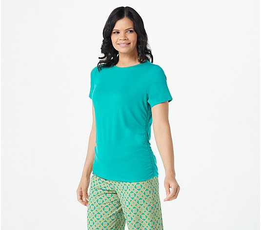 AmberNoon II by Dr. Erum Ilyas SunStretch UPF50 Short- Sleeve Top