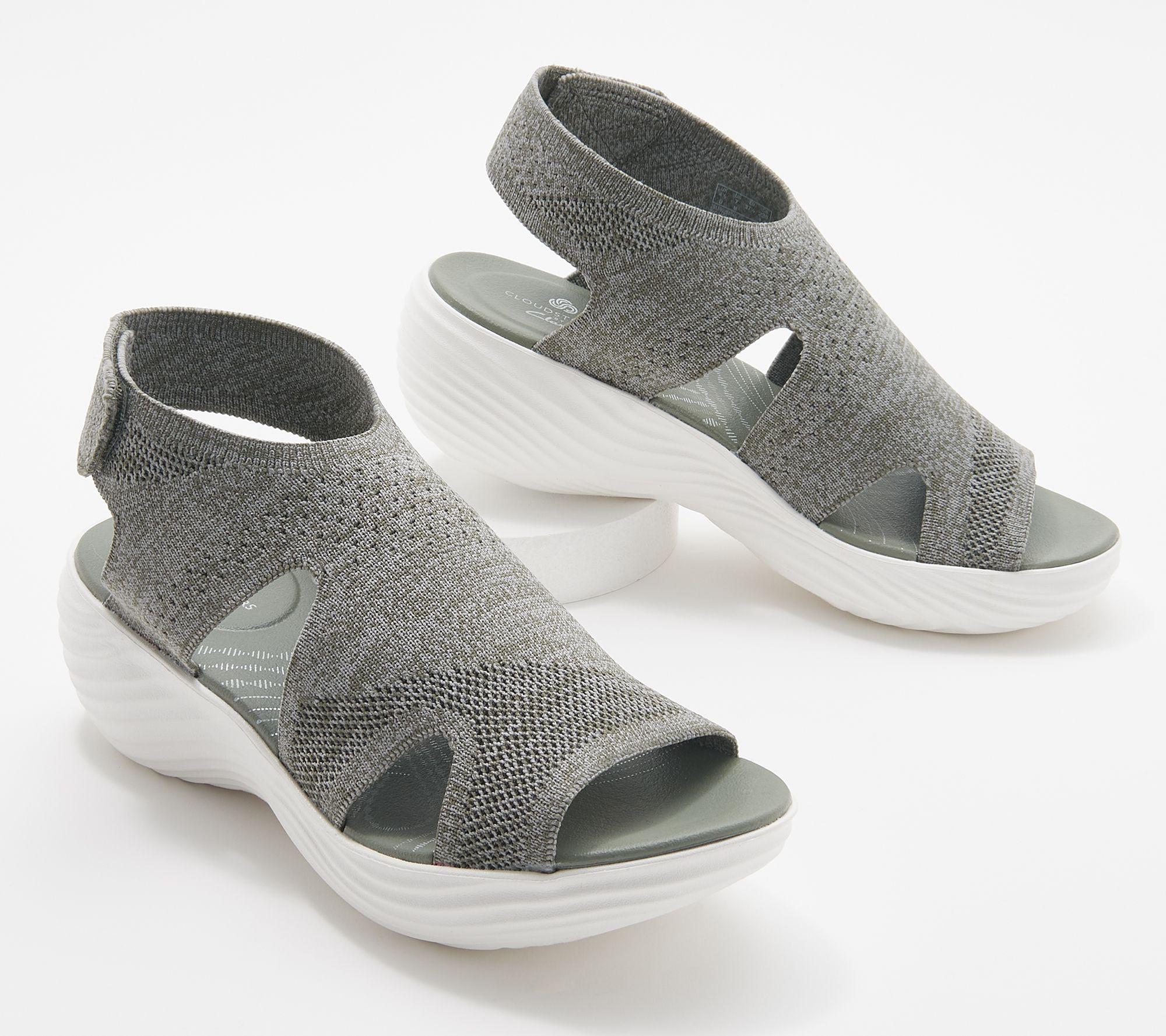 Details about  /Clarks Cloud Stepper Women/'s US 8 M Comfort Casual Slide Sandal Navy Or Brown