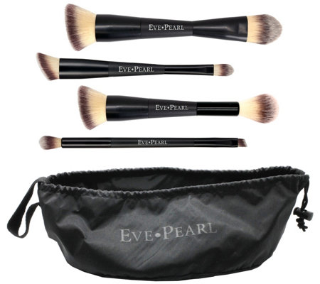 EVE PEARL 5-Piece Deluxe Dual Brush Kit and Satchel