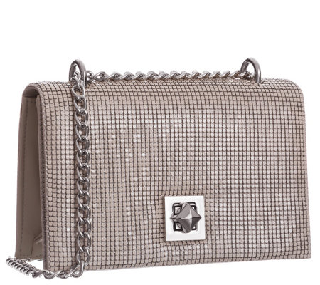 Whiting & Davis Flat Mesh Structured Clutch